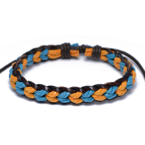 Men's Two-Tone Adjustable Surfer Bracelet