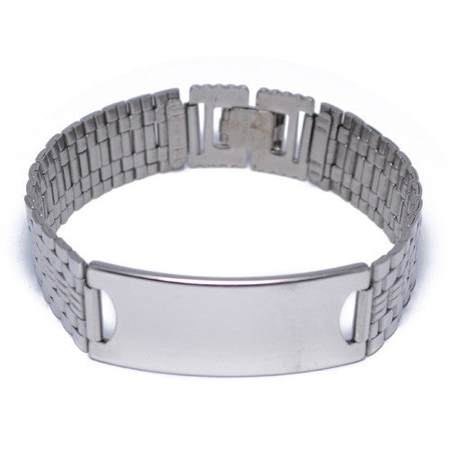 Stainless Steel ID Bracelet for Men