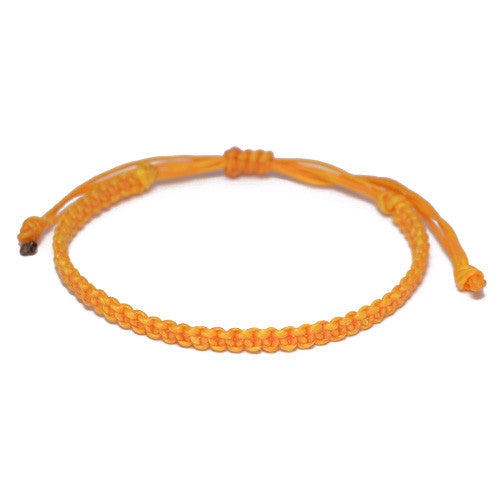 Yellow Cotton Buddhist Bracelet for Men
