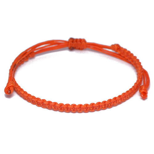 Men's Orange Cotton Buddhist Bracelet