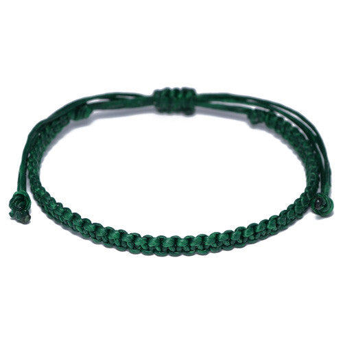 Green Cotton Buddhist Bracelet for Men