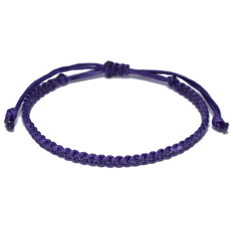 Men's  Purple Cotton Buddhist Bracelet