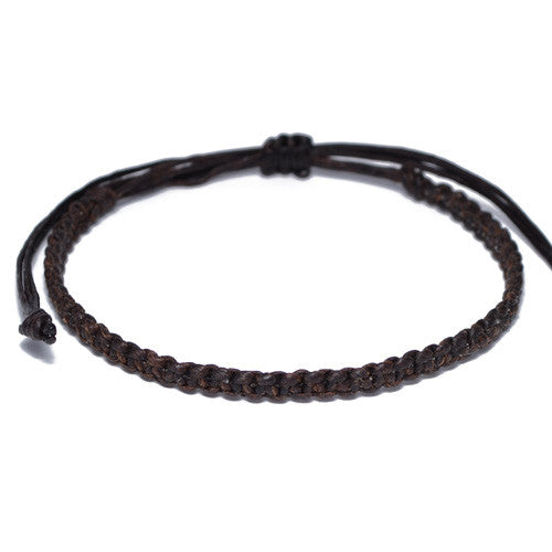 Brown Cotton Buddhist Bracelet for Men