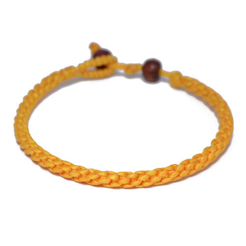 Men's Yellow Cotton Threaded Buddhist Bracelet