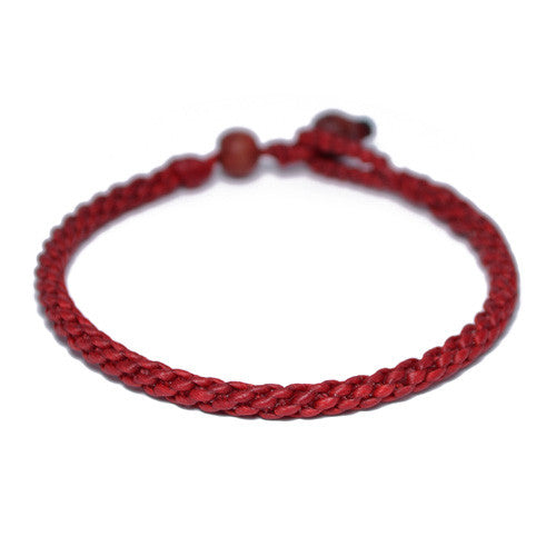 Red Cotton Threaded Buddhist Bracelet for Men