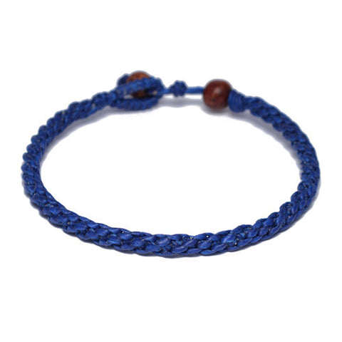 Men's Blue Cotton Threaded Buddhist Bracelet