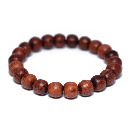 Natural Wood Buddhist Bead Bracelet