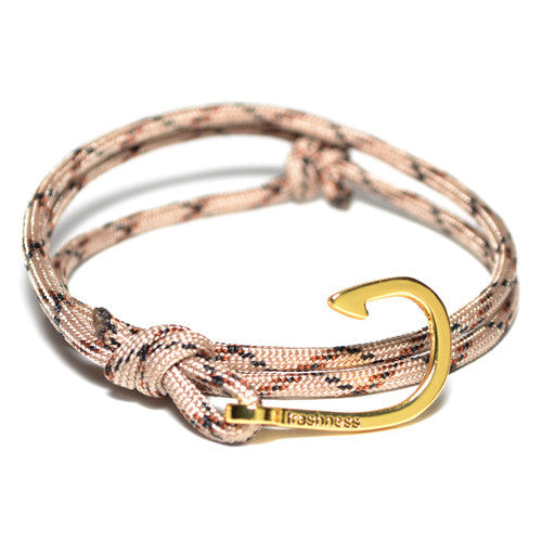 Men's Desert Camo Hook Wrap Bracelet