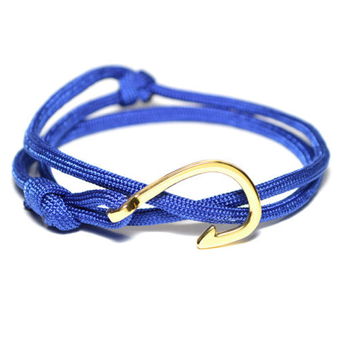 Men's Blue Wrap Hook Bracelet