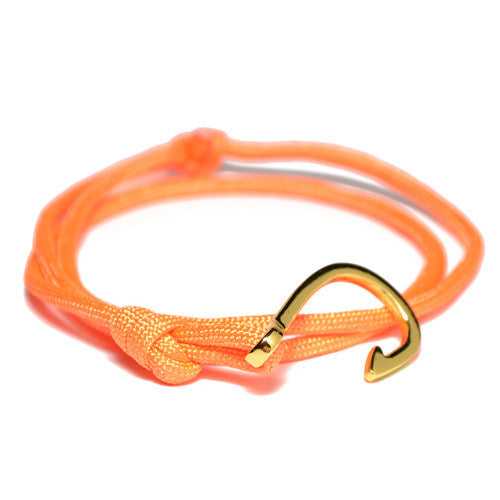 Men's Orange Wrap Hook Bracelet