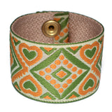 Souldier Sage and Cinnamon Guitar Strap Cuff Bracelet