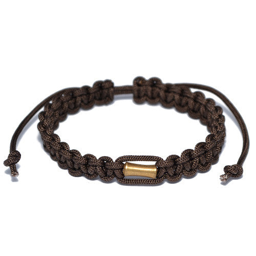 Men's Brown Nylon Adjustable Bracelet