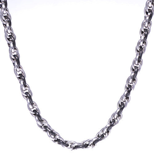 Men's Two-Tone Multiple Link Chain Necklace
