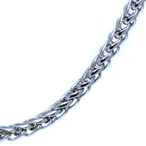 4mm Silver Plated Franco Chain Necklace For Men