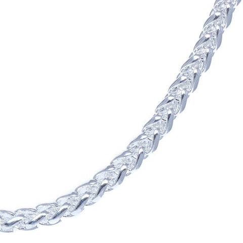 Men's 4mm Chrome Plated Franco Chain Necklace