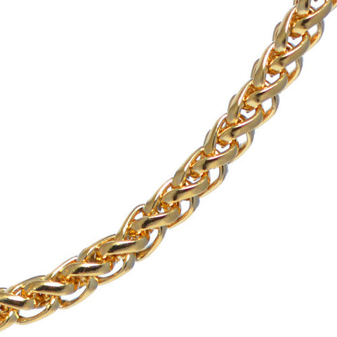 4mm Yellow Gold Plated Franco Chain Necklace For Men