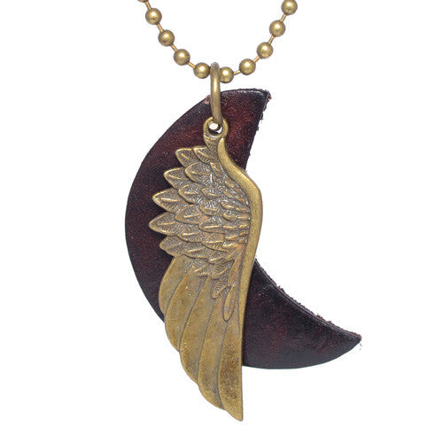 Men's Brass Wing Necklace