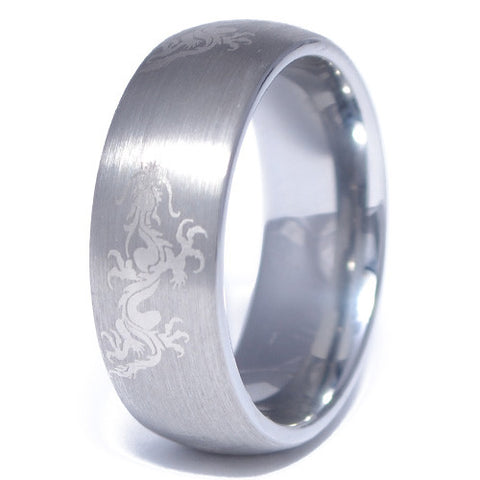 Men's Tungsten Alloy Dragon Pattern Ring
