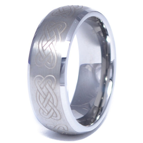 Men's Celtic Pattern Tungsten Alloy Ring
