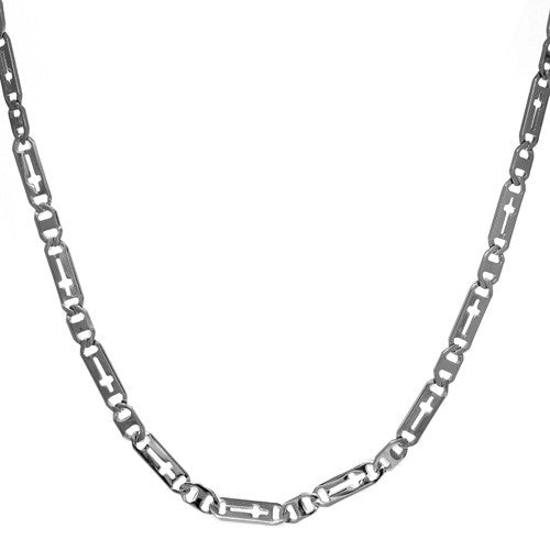 Stainless Steel Cross Insert Chain Necklace