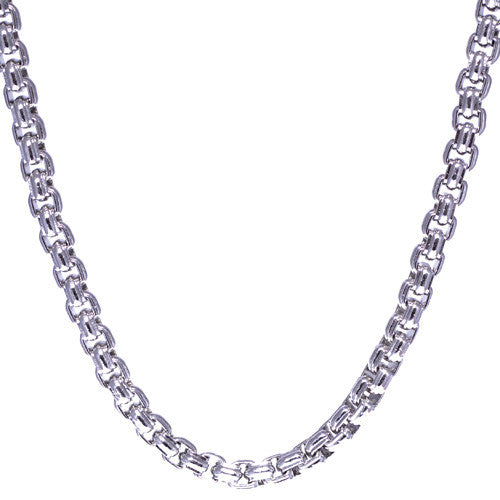 Stainless Steel Square Link Chain Necklace for Men