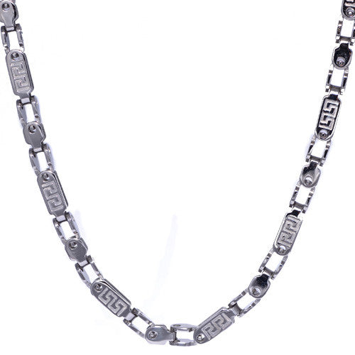 Men's Greek Design Stainless Steel Chain