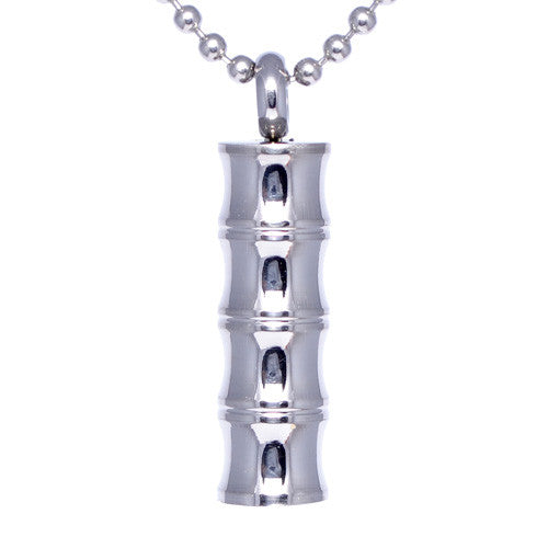 Men's Stainless Steel Bamboo Pendant