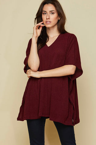 V-Neck Sweater Tunic