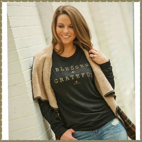 Blessed and Grateful Long Sleeve Tee