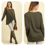 Long Sleeve Top with Side Knot