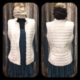 Cream Vest with Pockets