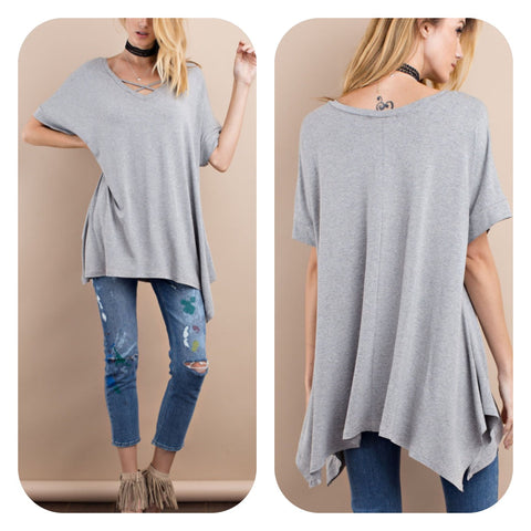 Grey Loose Fit Tunic