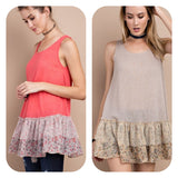 Sleeveless Ruffled Tunic