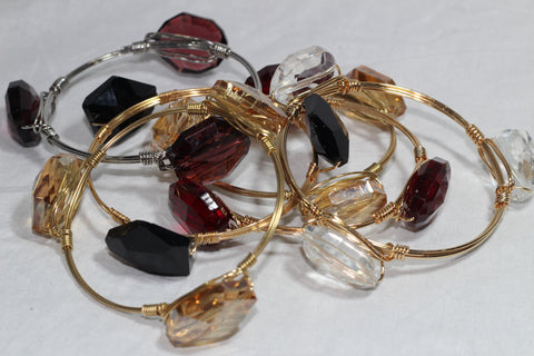 Single Tone Crystal Bracelets
