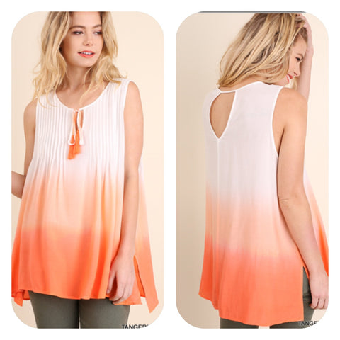Sleeveless Tangerine Ombre' Top
