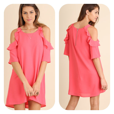 Rose Cold Shoulder Dress