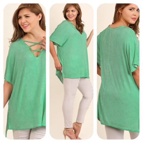 Emerald short sleeve top