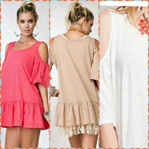 Cold Shoulder Baby Doll Top
