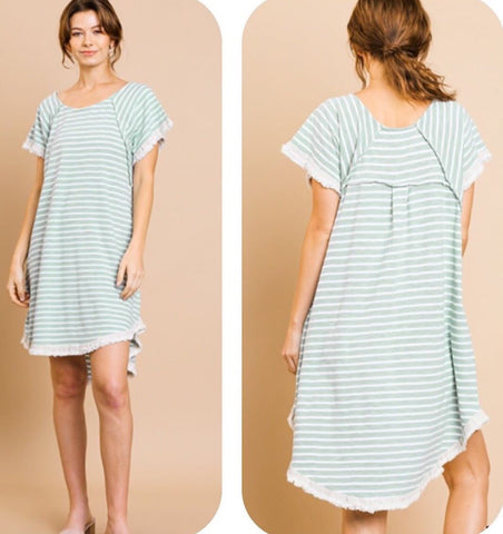 Dusty Mint T-Shirt Dress