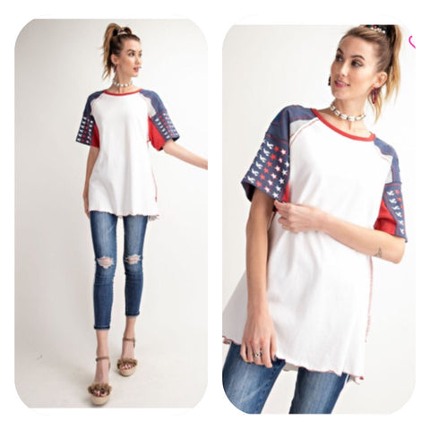 American Themed Knit Top