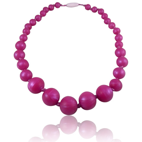 Champagne Pink Baby Teething Necklace for children to wear-Made With 100% Food Grade Silicone