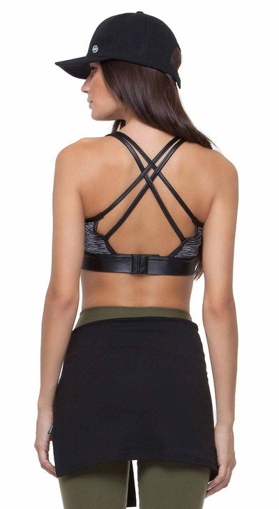 Sports Bra Top Empower Gray