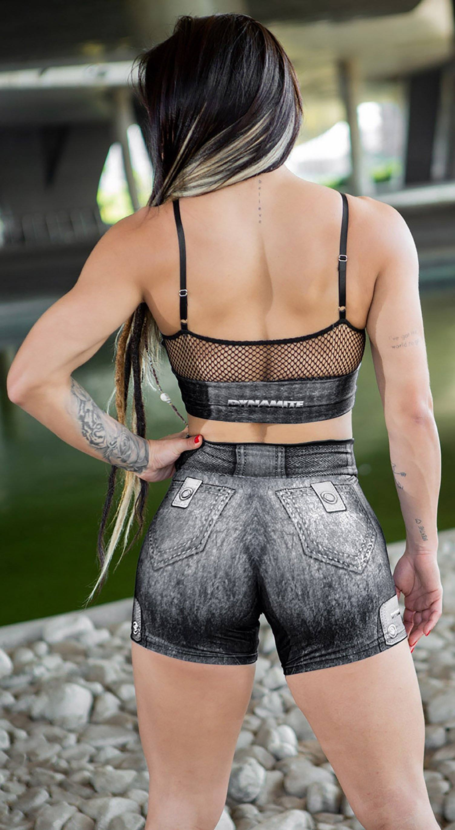 Brazilian Workout Shorts - The Guardian Rokies Grey