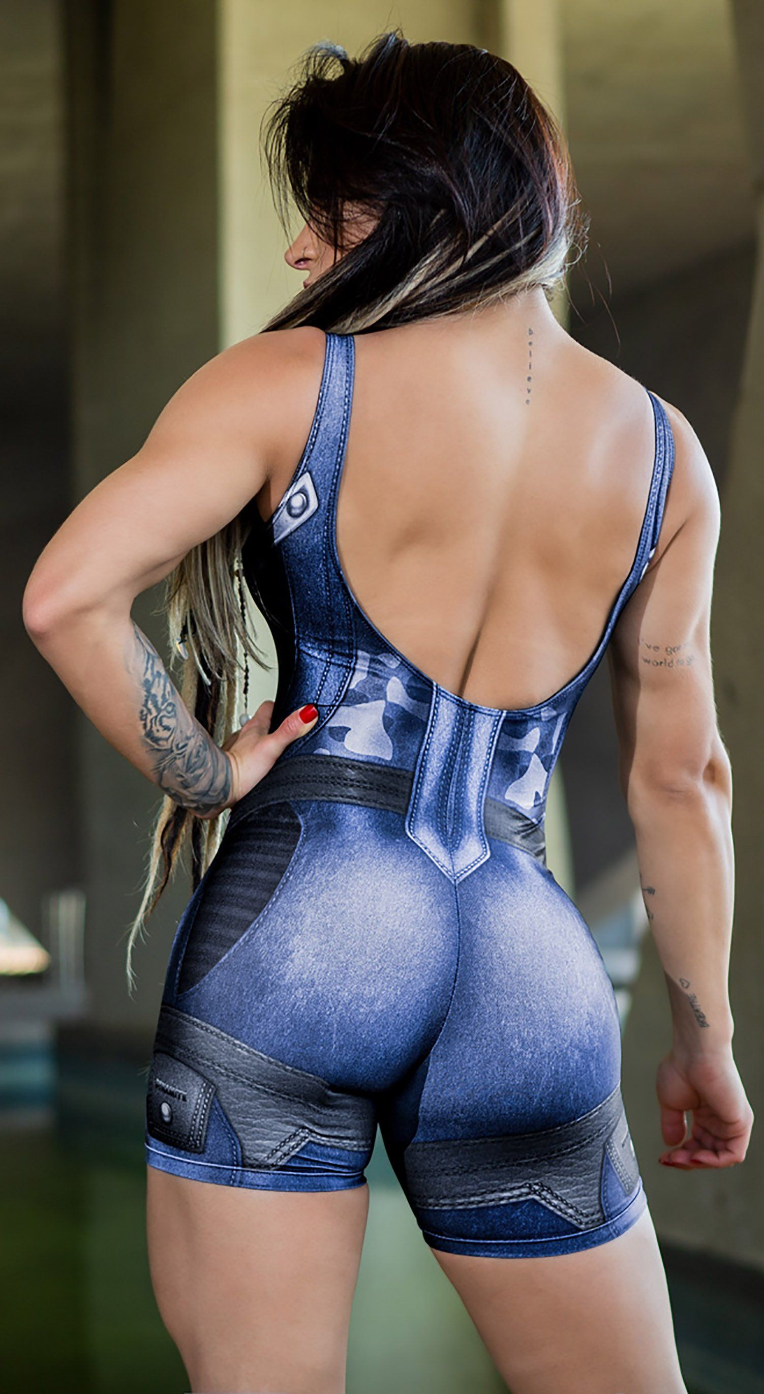 Brazilian Workout Jumpsuit Shorts - The Guardian Ice Blue