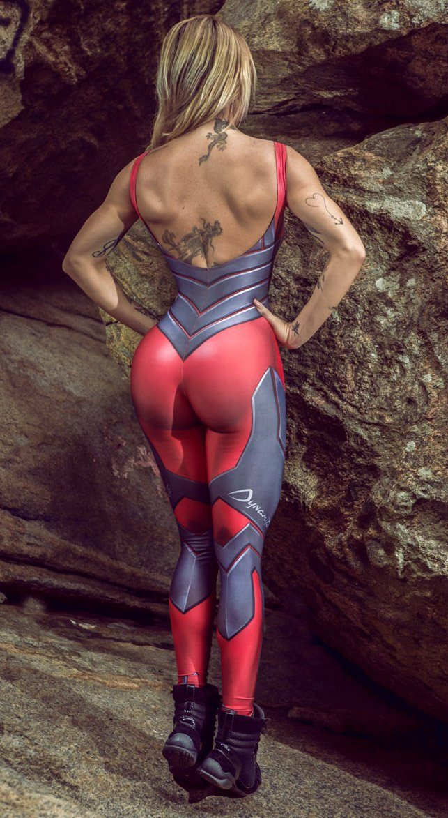 Brazilian Workout Jumpsuit  - Cosmic Legacy Red