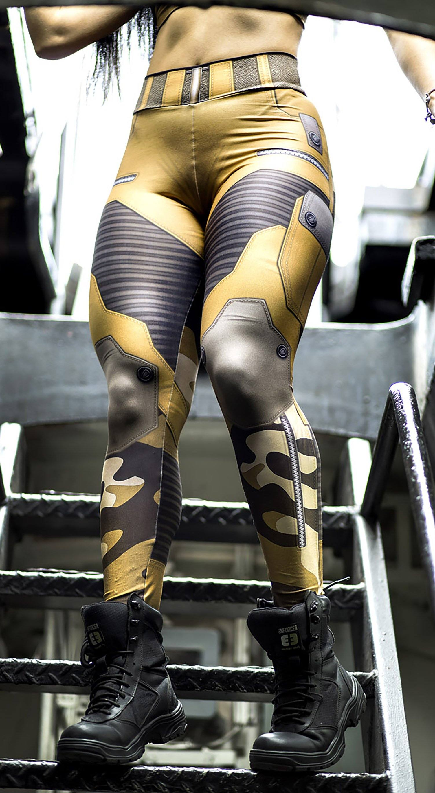 Brazilian Workout Legging -  The Guardian Savanna Yellow