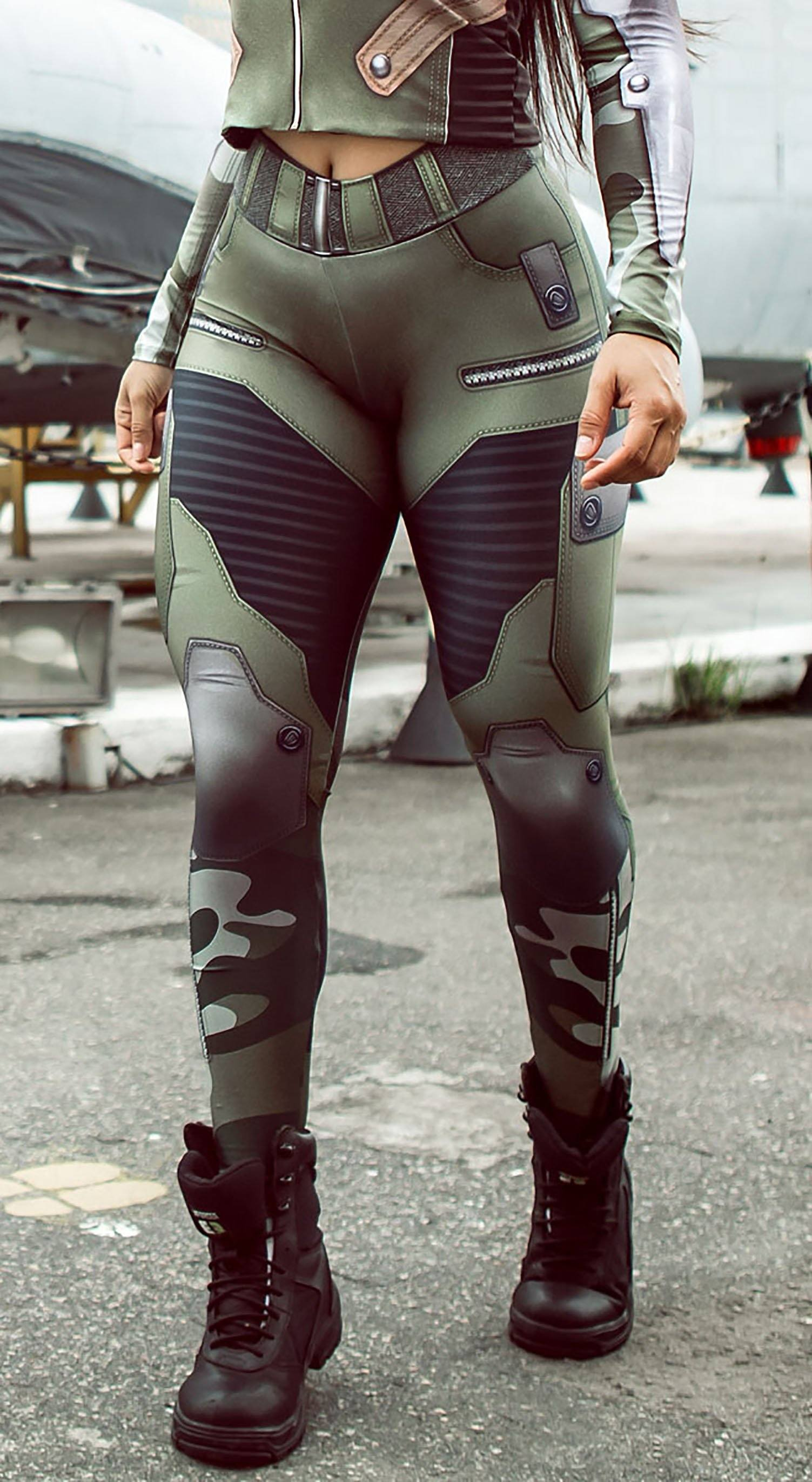 Brazilian Workout Legging -  The Guardian Jungle Green