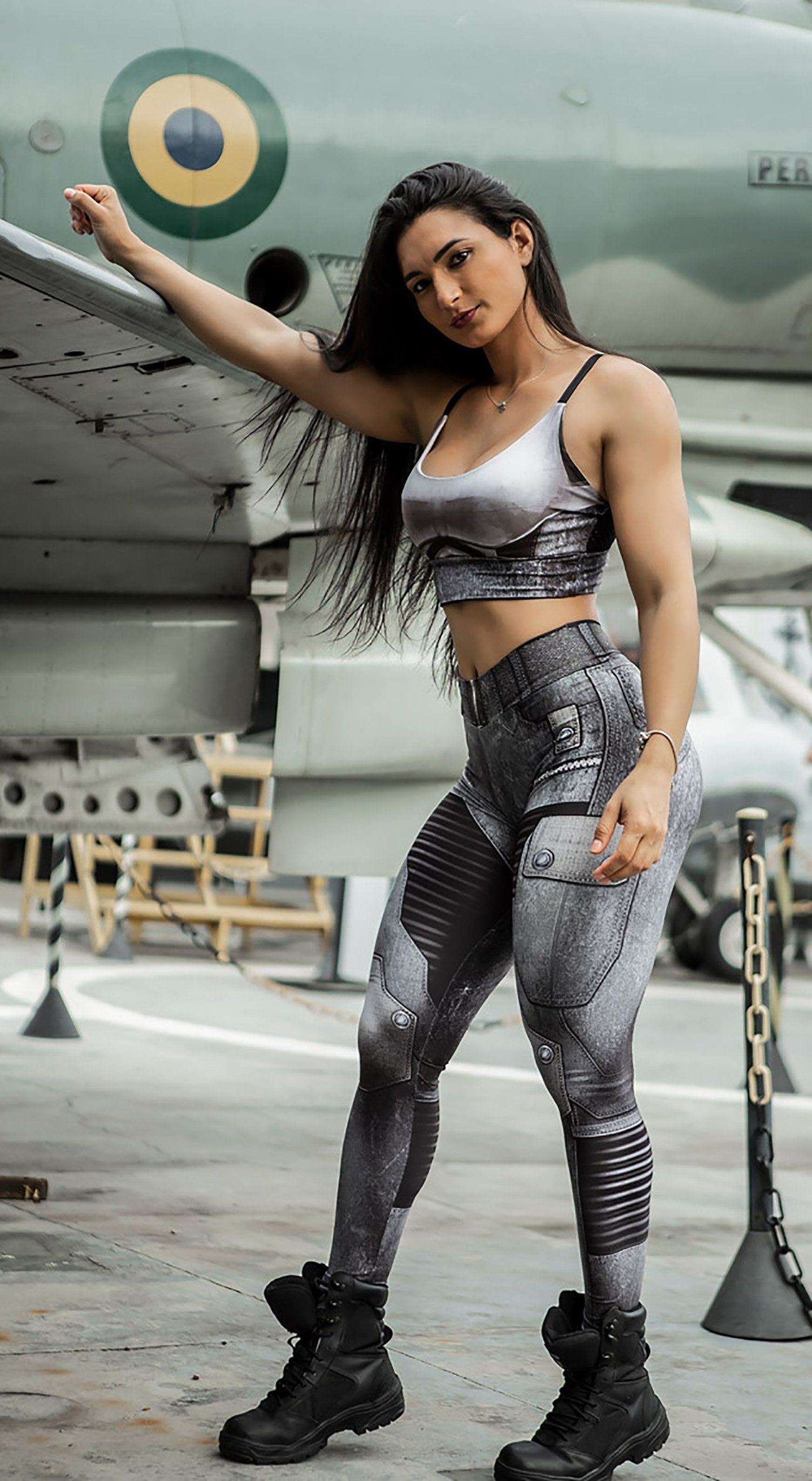 Brazilian Workout Legging -  The Guardian Rokies Grey