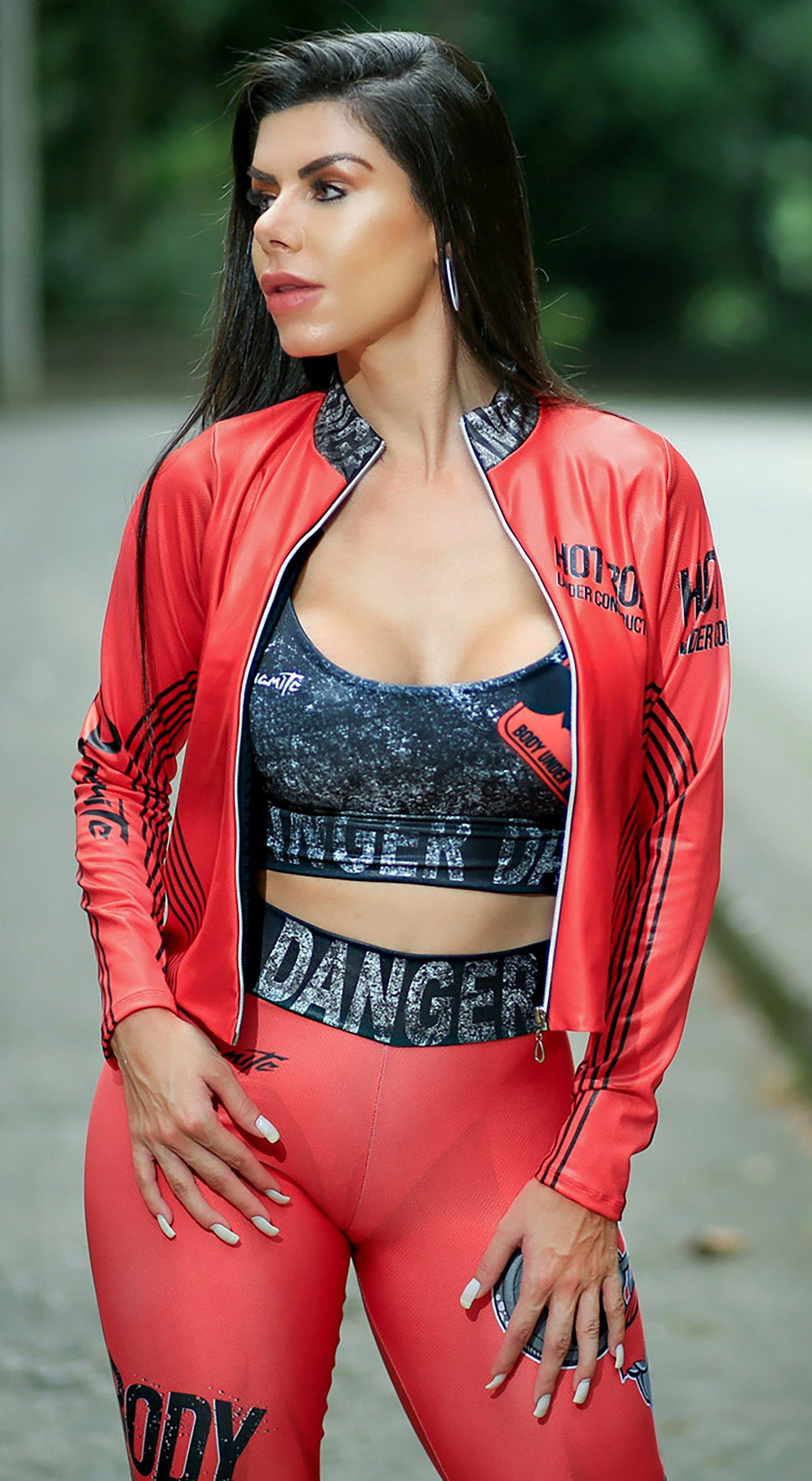 Gym Jacket - Double Axle Red