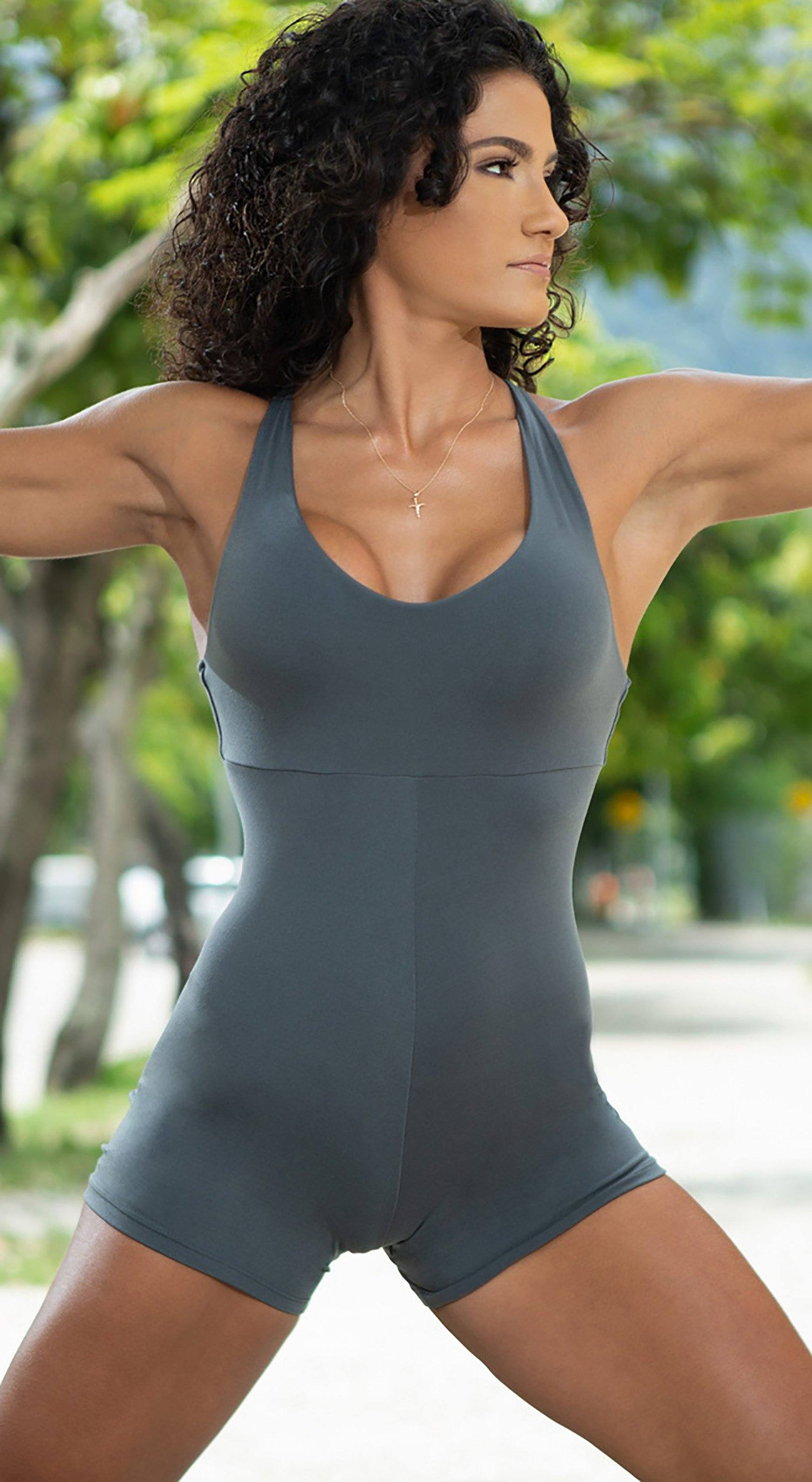 Brazilian workout Jumpsuit  - Anezi Grey